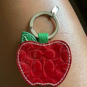 Coach Apple Key Ring